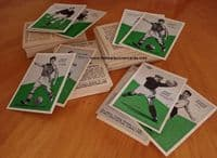 1958 COLLECTION VARIETIES & TYPES CardMaster Master Vending Football Tips cards, grey & cream 135+